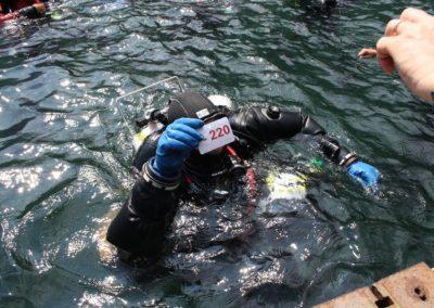 record di profondità 220 metri